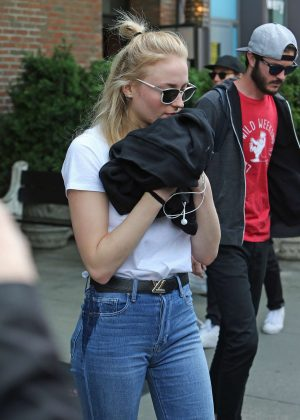Sophie Turner - Leaving a hotel in NYC