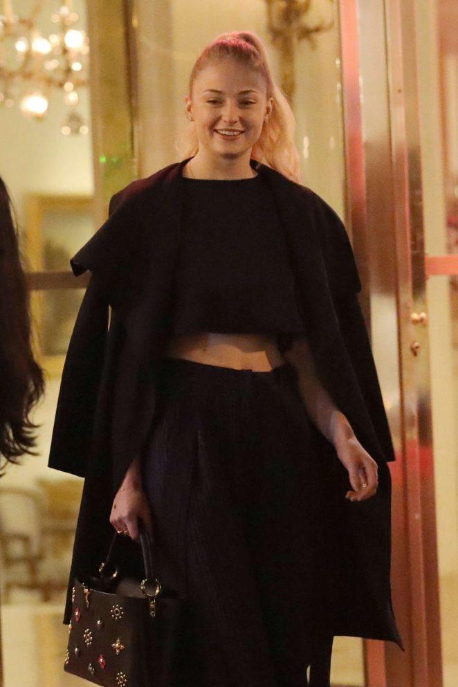Sophie Turner - Leaving her hotel in Paris