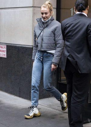 Sophie Turner - Leaving office building in NYC