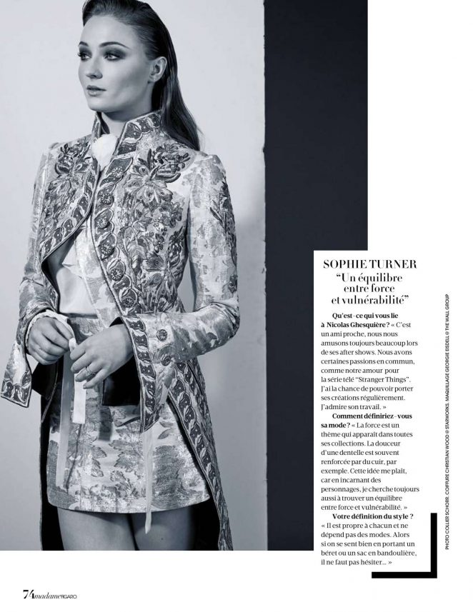 Sophie Turner – Madame Figaro Magazine (April 2018)