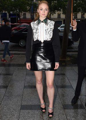 Sophie Turner - Miu Miu Fashion Haute-Couture F/W 2016/2017 in Paris