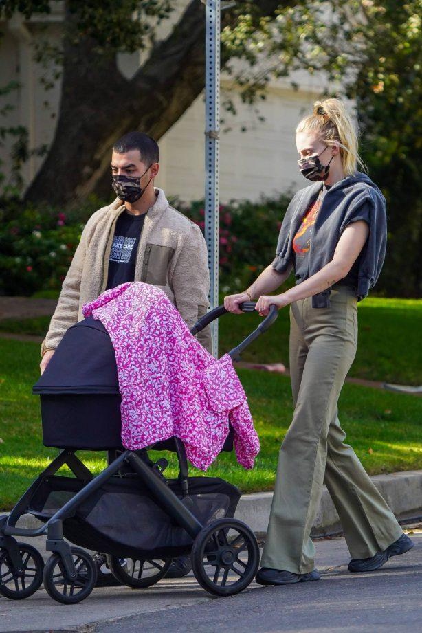 Sophie Turner - On her daily walk in Los Angeles