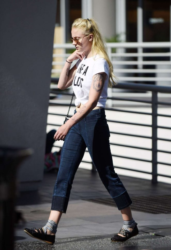 Sophie Turner out shopping in London