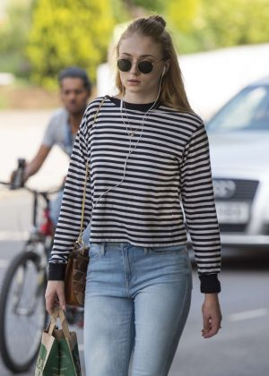 Sophie Turner - Seen Out in North London