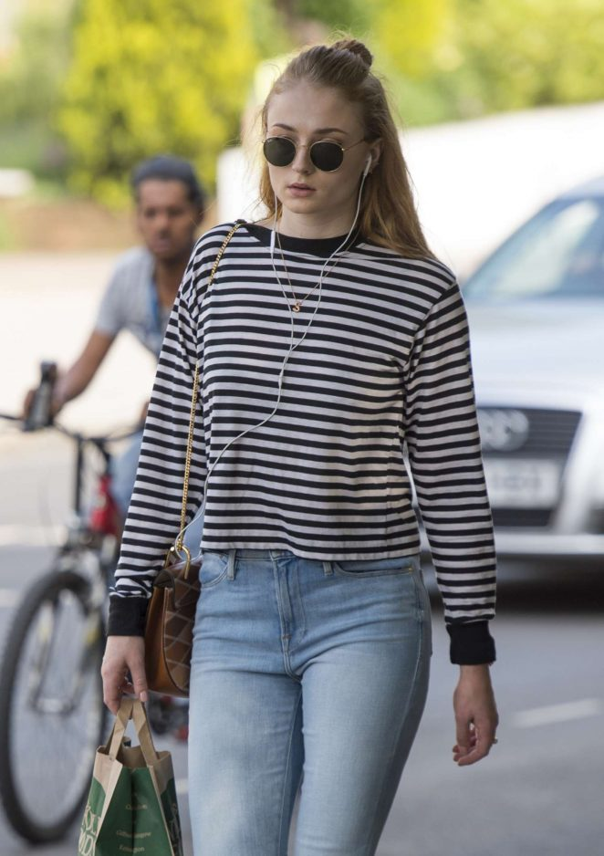 Sophie Turner – Seen Out in North London
