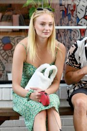 Sophie Turner - Taking Porky to McCarren Park in Brooklyn