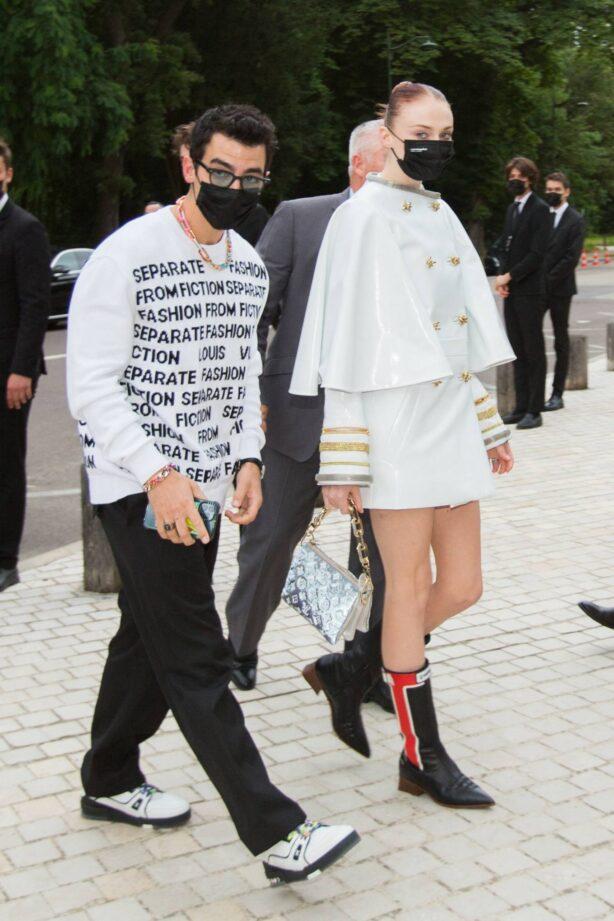 Sophie Turner - With Joe Jonas arrives to Louis Vuitton Fragance Dinner in Paris