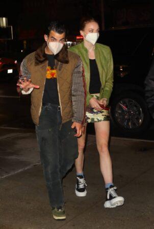 Sophie Turner - With Joe Jonas date night in NYC