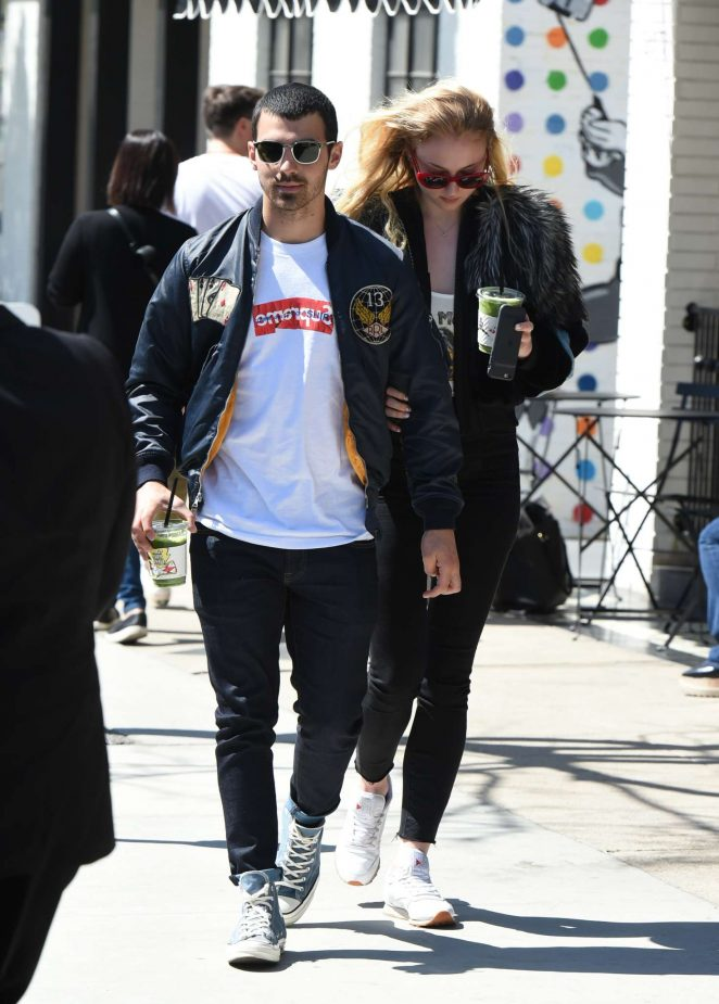 Sophie Turner with Joe Jonas out in LA -06