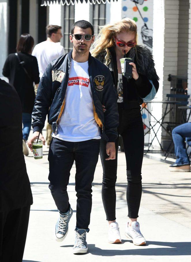 Sophie Turner with Joe Jonas out in LA -12