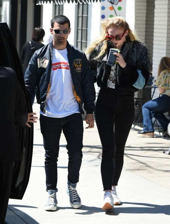 Sophie Turner with Joe Jonas out in LA -13