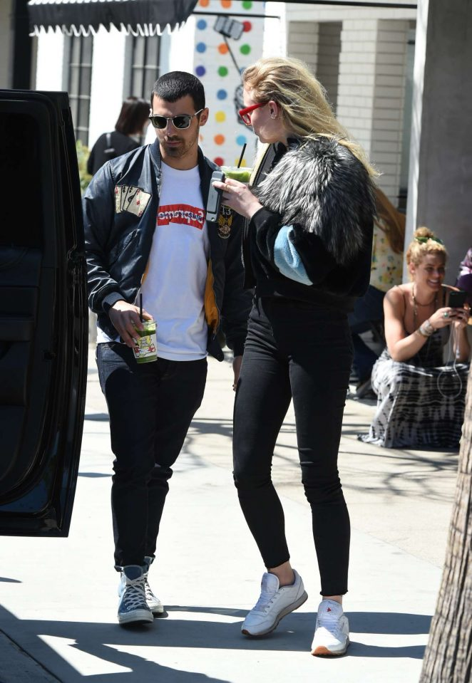 Sophie Turner with Joe Jonas out in LA -14