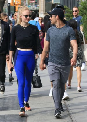 Sophie Turner with Joe Jonas out in New York City