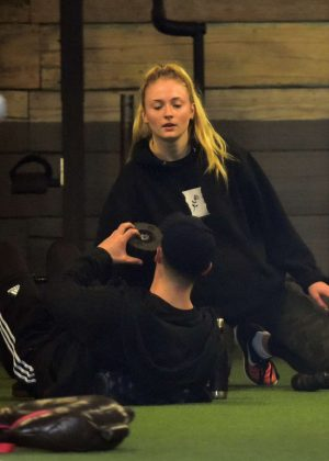 Sophie Turner - Working out in WeHo