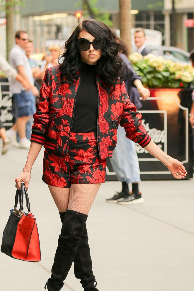 Stacey Bendet Filming at Saks Fifth Avenue in New York