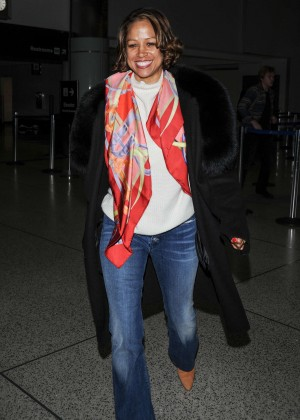 Stacey Dash in Jeans at LAX Airport in Los Angeles