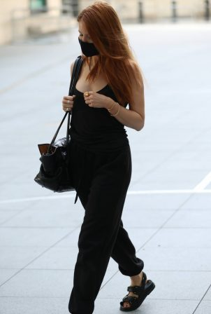 Stacey Dooley - All in black at BBC studios