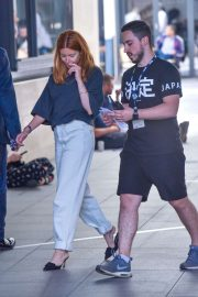 Stacey Dooley - Arriving at BBC Broadcasting House in London