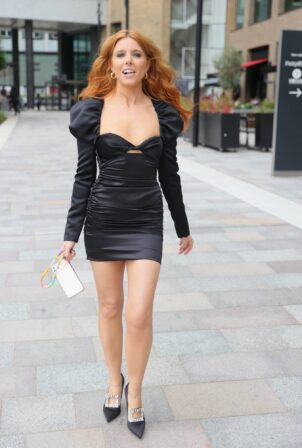 Stacey Dooley - in black exits hotel ahead of BAFTA TV Awards in London
