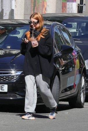 Stacey Dooley - Seen in a tracksuit after appearing on Radio 5Live in London