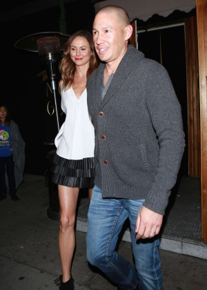 Stacey Keibler and her husband at The Nice Guy in West Hollywood