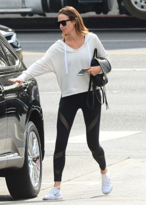 Stacey Keibler in Spandex out in West Hollywood