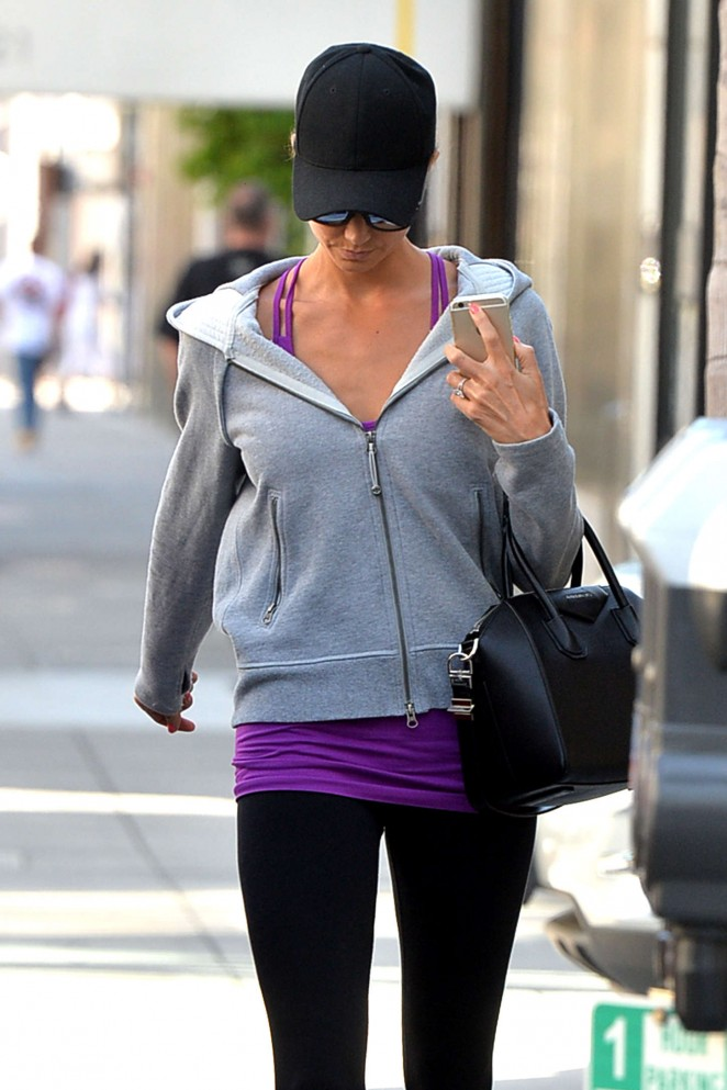 Stacey Keibler in Leggings Out in Los Angeles