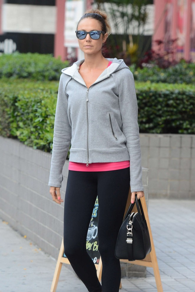 Stacey Keibler in Spandex Out in Melrose