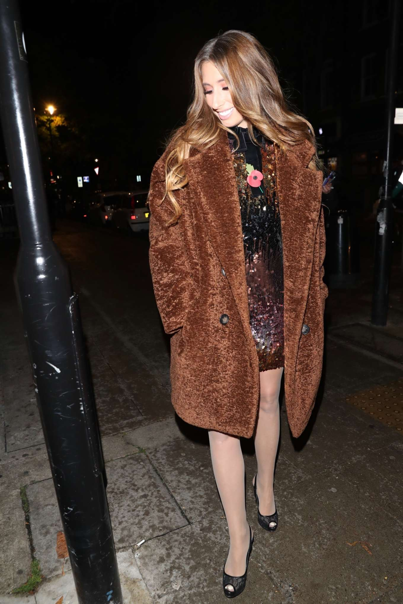 Stacey Solomon - Arrives at It takes Two studio in London