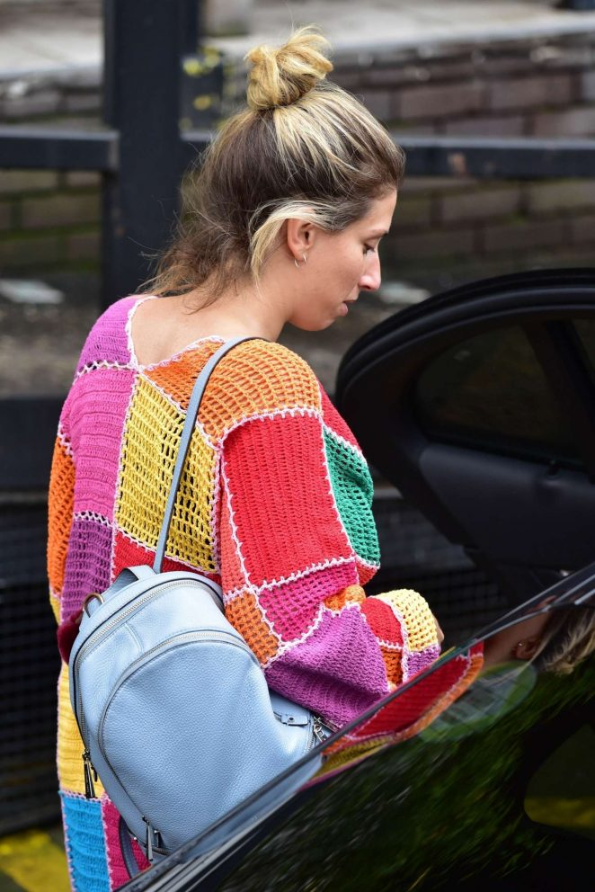 Stacey Solomon - Arriving at the ITV Studios in London