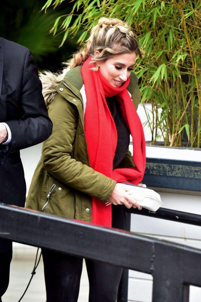 Stacey Solomon - Leaving the ITV Studios in London