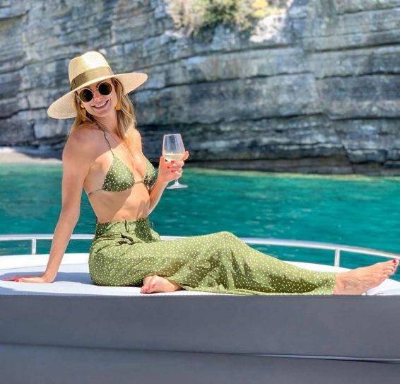 Stacy Keibler in Bikini Top - Personal