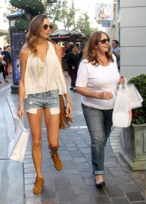 Stacy Keibler in Denim Shorts out in Beverly Hills