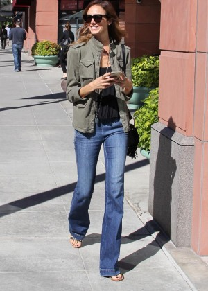 Stacy Keibler in Jeans out in Beverly Hills