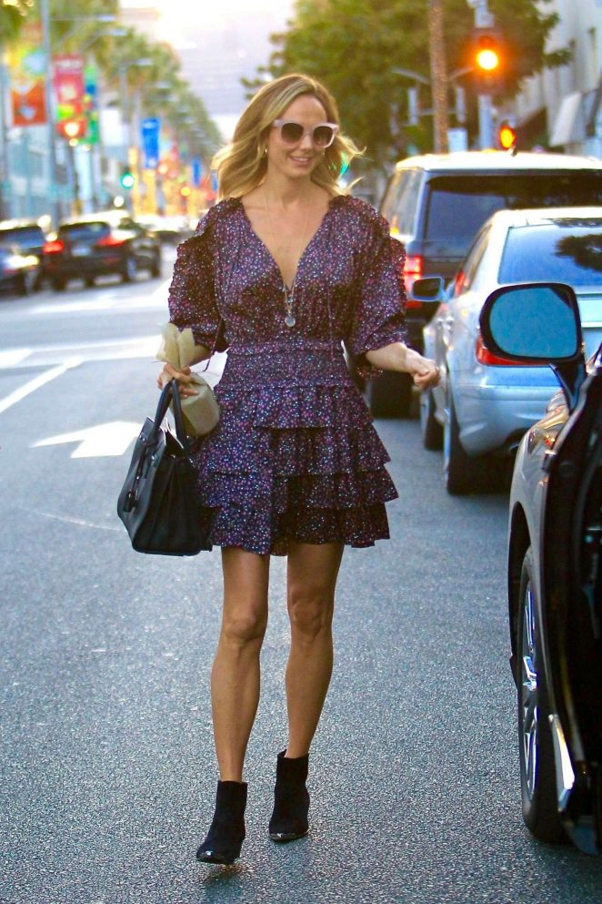 Stacy Keibler in Mini Dress – Out in Beverly Hills