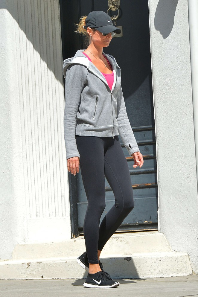 Stacy Keibler in Spandeex Out in LA