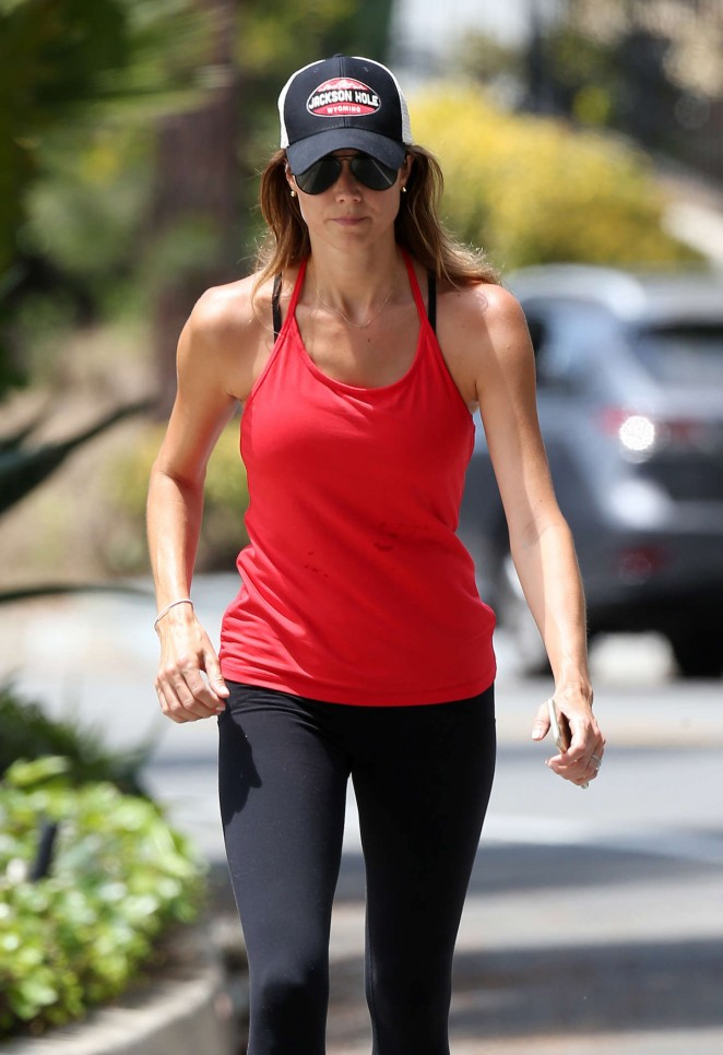 Stacy Keibler in Spandex Out in Beverly Hills