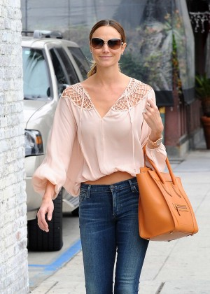 Stacy Keibler in Tight Jeans Out in LA