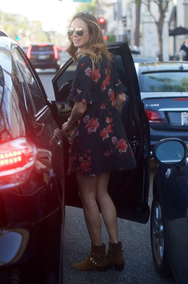 Stacy Keibler - Leaves Cafe Gratitude in Beverly Hills