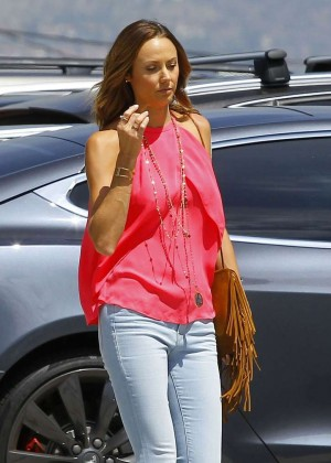 Stacy Keibler in Jeans Out in Burbank