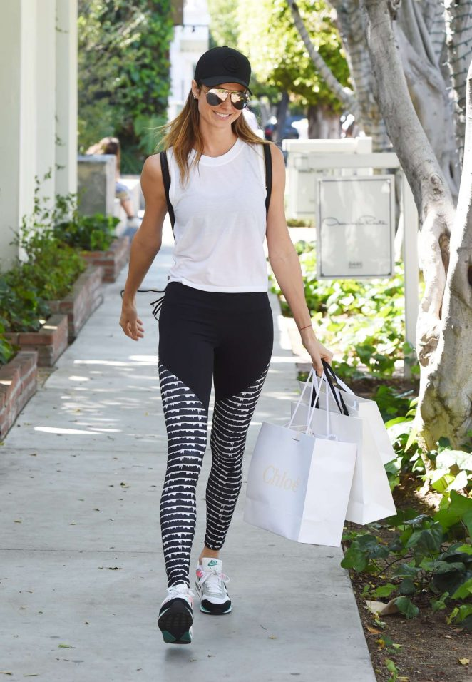 Stacy Keibler Shopping at the Zimmerman store in West Hollywood