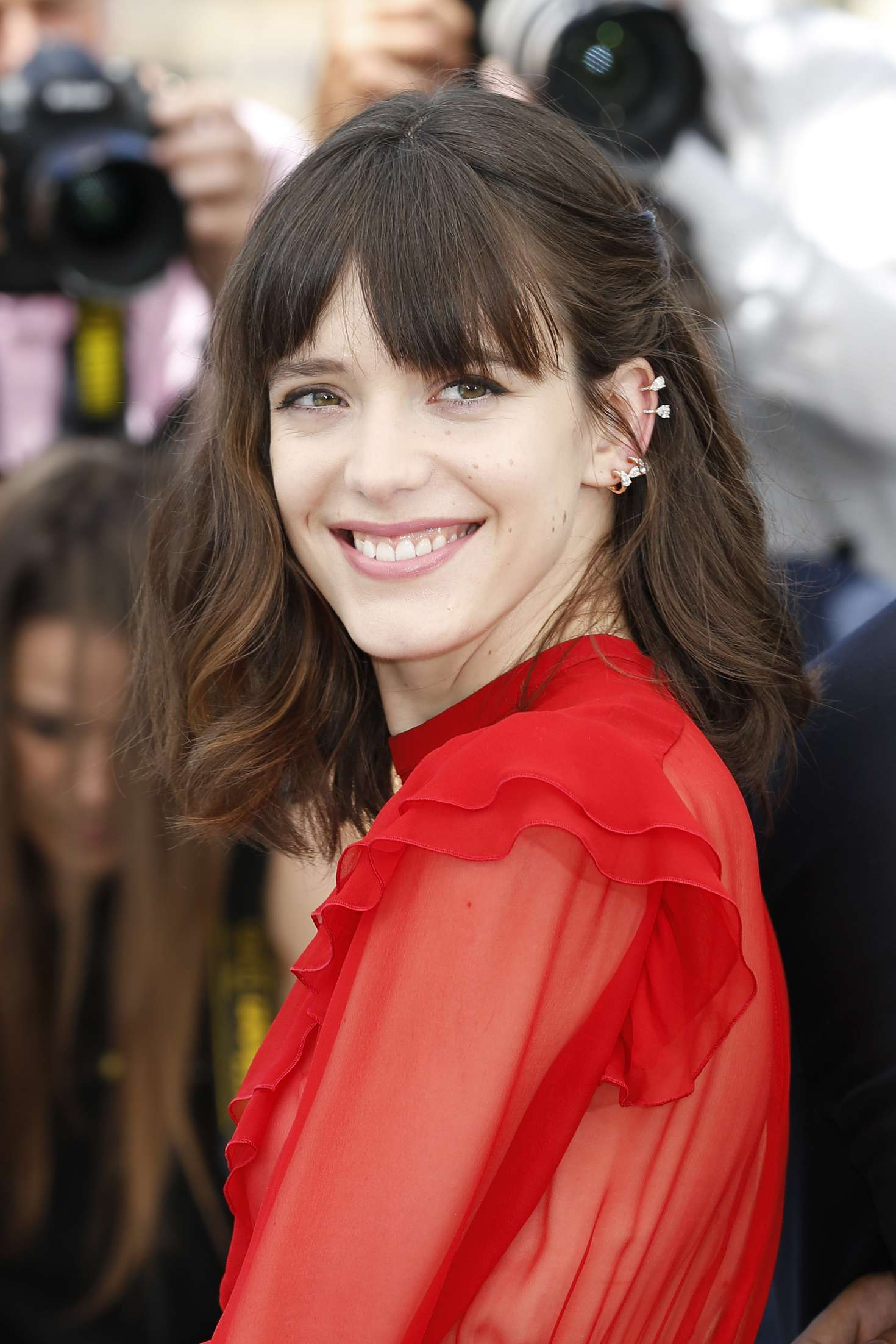 Stacy Martin Redoutable Photocall At 70th Cannes Film