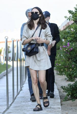 Stacy Martin - Seen at the beach during 2020 Venice Film Festival
