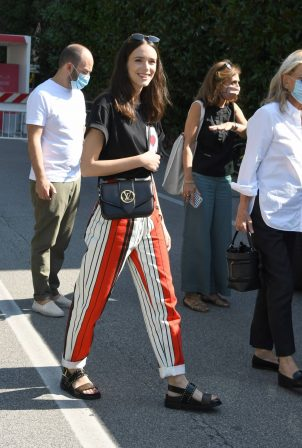 Stacy Martin spotted at the Excelsior at 2020 Venice Film Festival