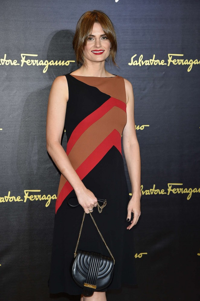 Stana Katic - Salvatore Ferragamo at Milan Fashion Week SS 2016
