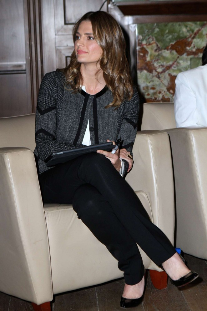 Stana Katic - Speaks during a panel discussion in LA