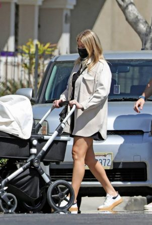 Stassi Schroeder - With Beau Clark out with their newborn daughter in Los Angeles