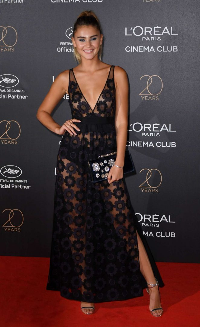 Stefanie Giesinger - L'Oreal 20th Anniversary Party in Cannes