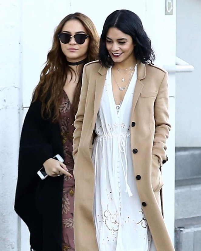 Stella and Vanessa Hudgens - Seen in Studio City