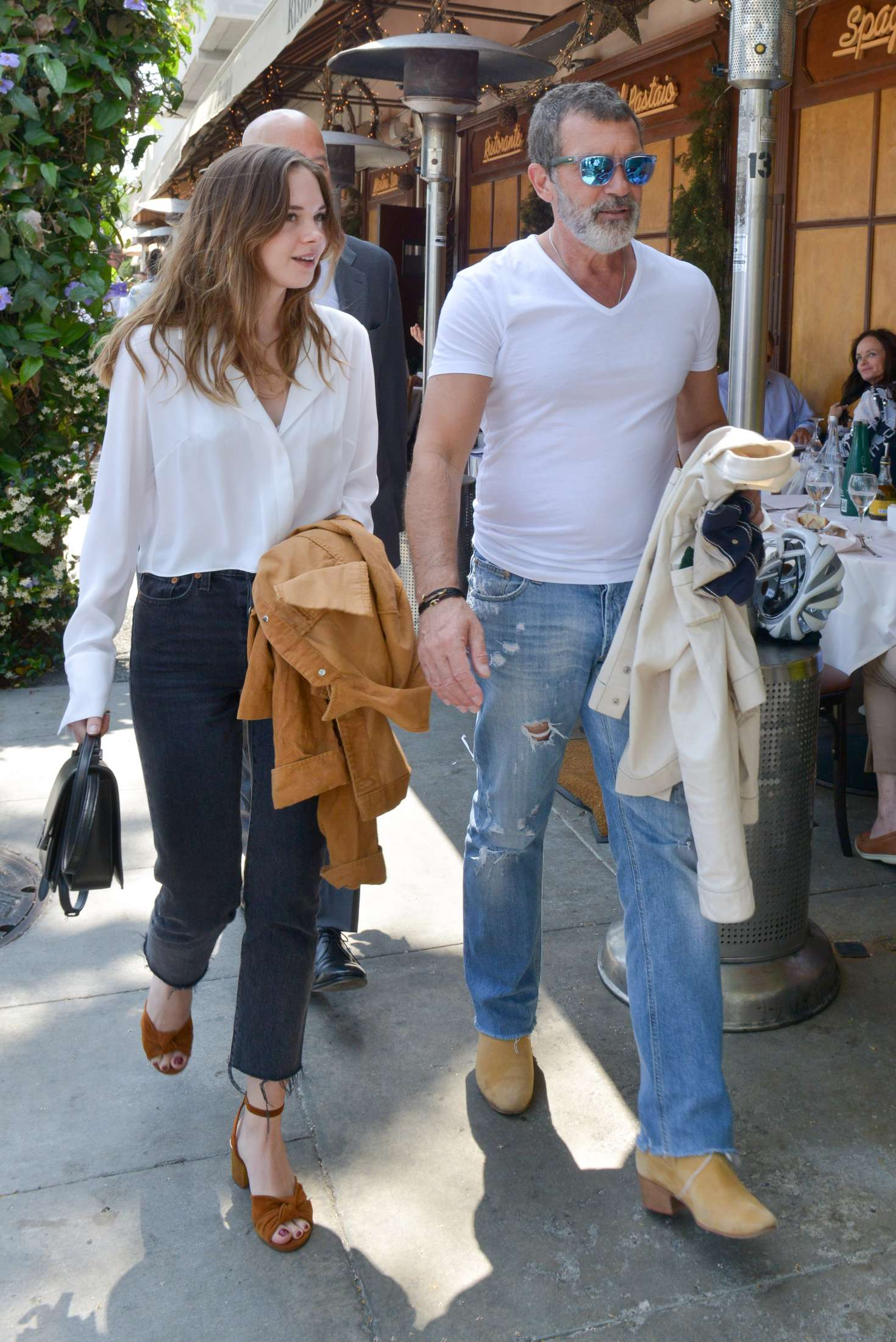 copyright stella banderas has lunch with her father antonio banderas copyright france stella banderas has lunch with her father antonio banderas